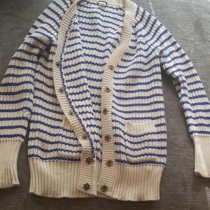 J.crew thick snap button knit cardigan sweater